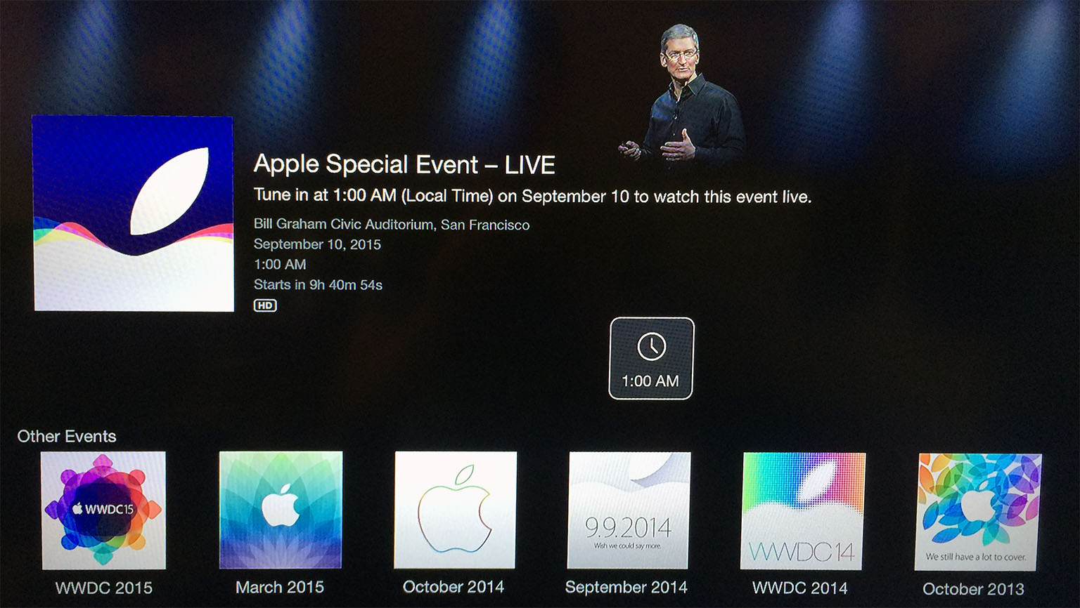 Apple Events Channel On Apple Tv Updated To Stream Today S Apple Keynote Macstories