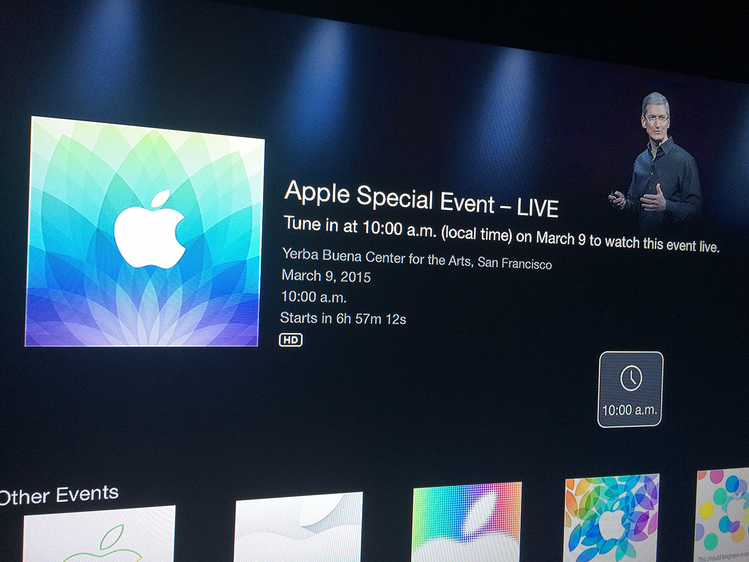 Apple Events Channel Now Available on Apple TV to Stream ...