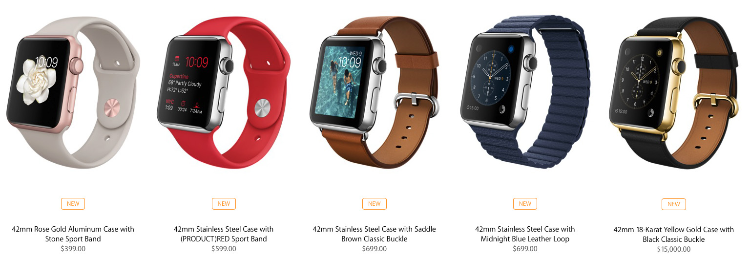 Some of the new Apple Watch collections