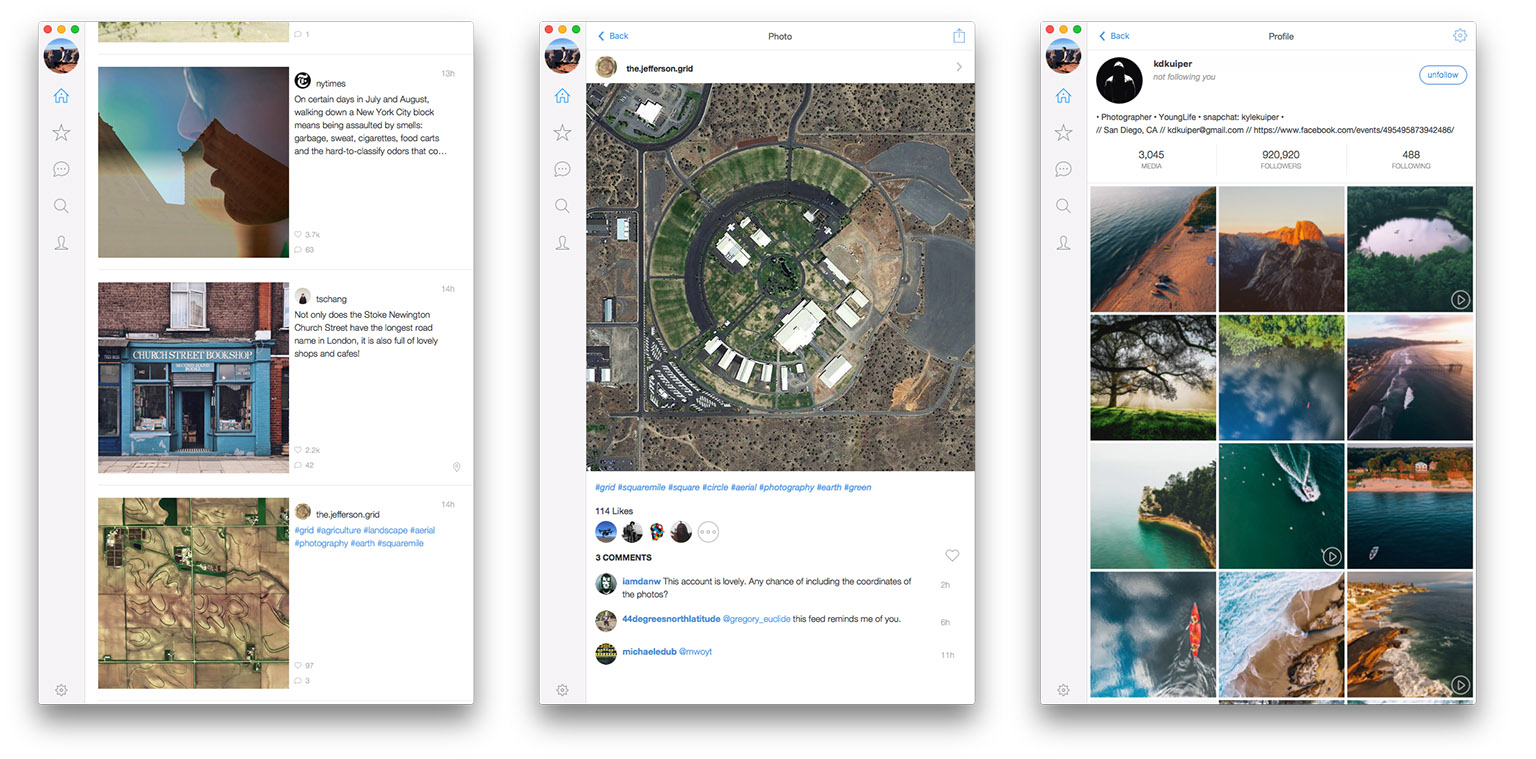 Photoflow: An Instagram Client for the Mac - MacStories
